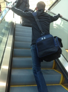image of Jac on the escalator