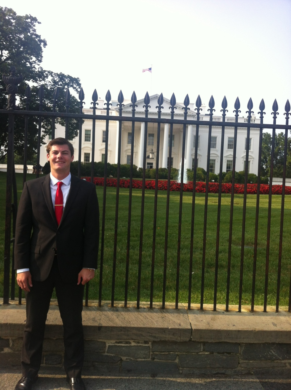 Nick Grimes in front of White House