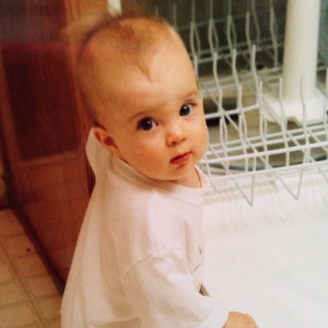 Rachel Traxler as a baby