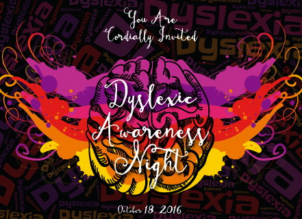 Abbie Seay's invitation to her Dyslexic Awareness Night event at her school