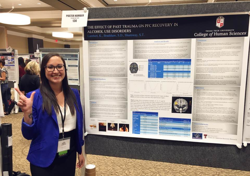 Kennedy Lambert, a TECHniques Center tutor, presents her research at the 2017 CALUE Undergraduate Research Conference