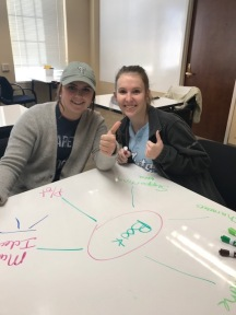 Students and tutors give the whiteboard tables two thumbs up!